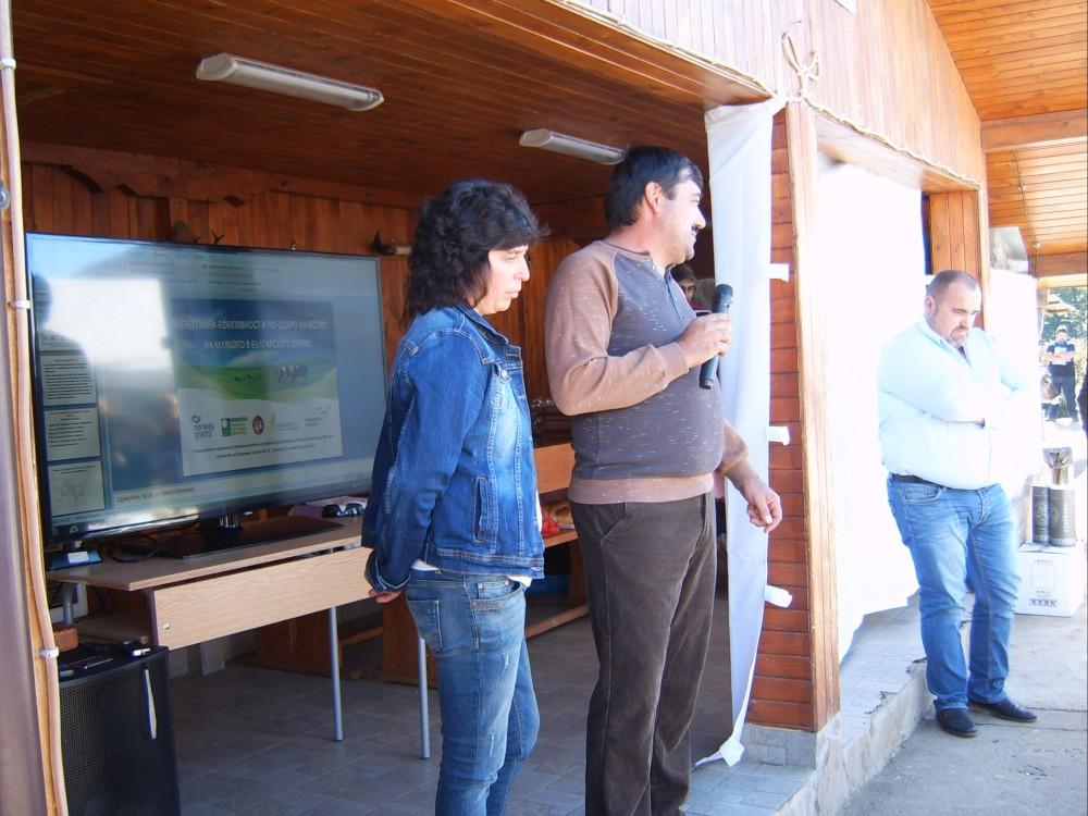 Росица и Иван Данчеви презентират нововъведенията в своята ферма
